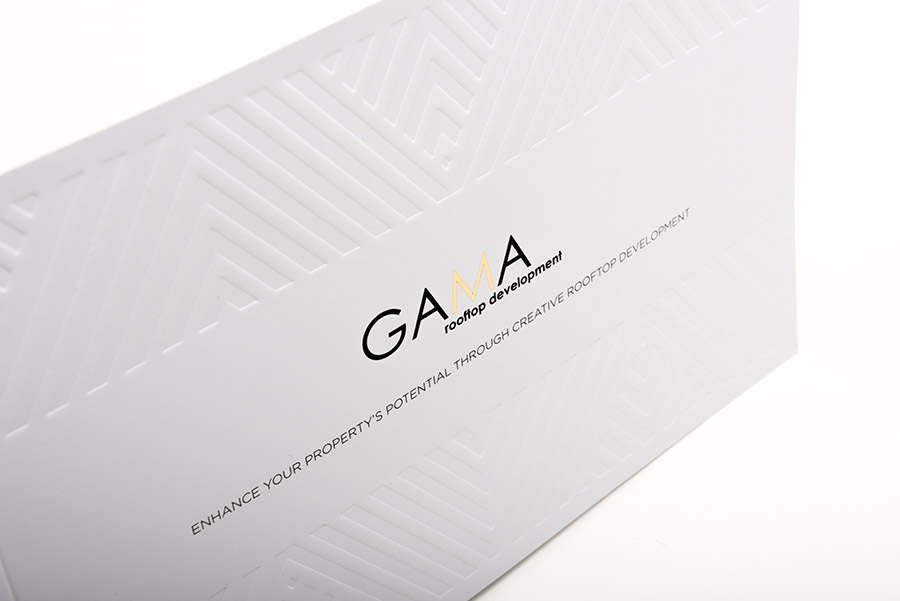 Embossed Uncoated Printed Brochure Cover