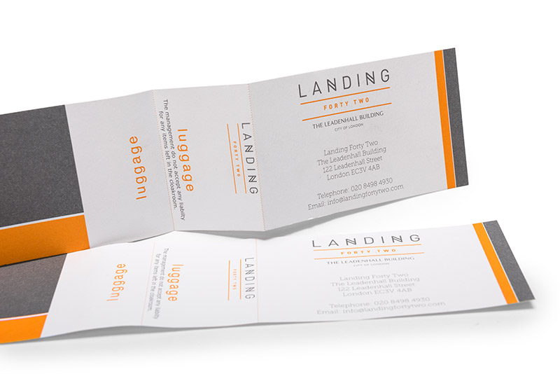 Luggage Label Print with Perforation